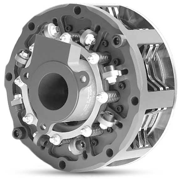 Anti-stall clutch from ZF-Motorsport with contact force application dependent on engine speed.