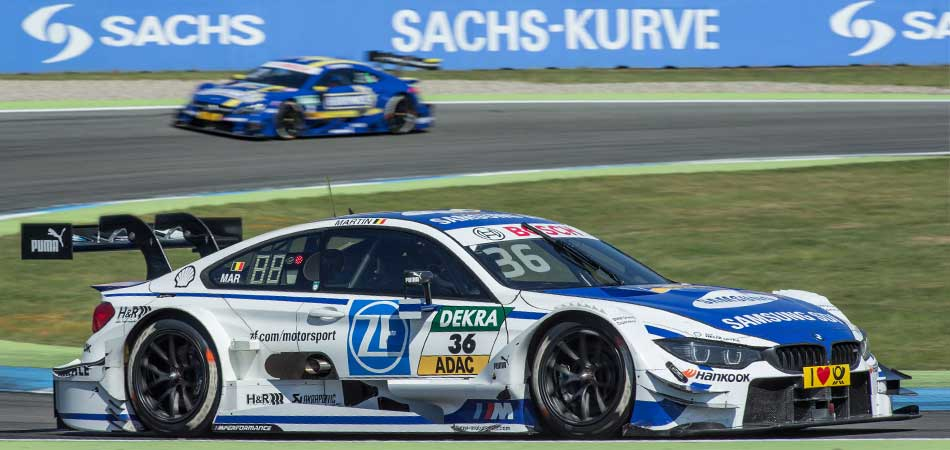BMW Motorsport M4 GT3 with SACHS carbon clutch on the racetrack.