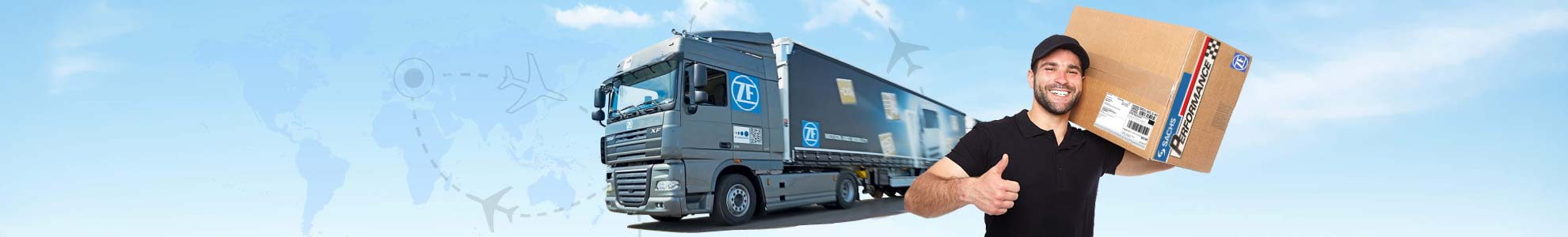 ZF SACHS worldwide shipping