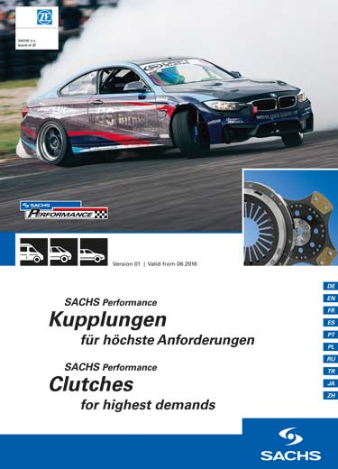 Download the current product portfolio of SACHS Performance clutches.