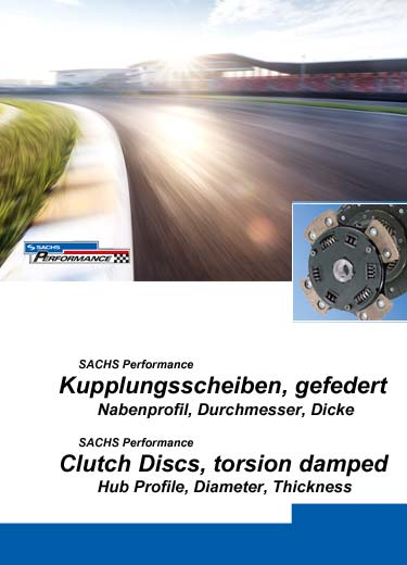 SACHS Performance clutch plates, spring design, information about hub profiles, diameter, thickness and stop position.