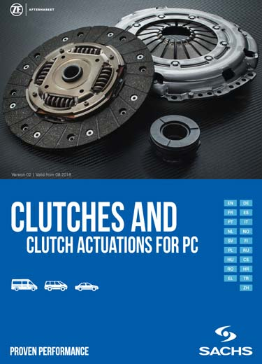 Complete range of ZF SACHS car clutches.