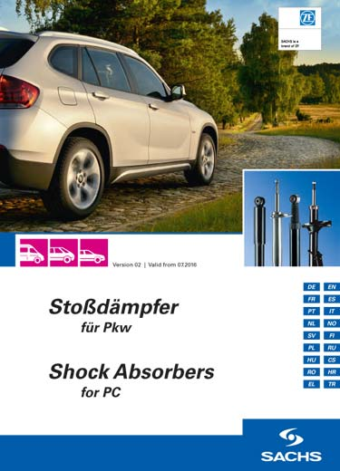 The complete product range of ZF SACHS shock absorbers.