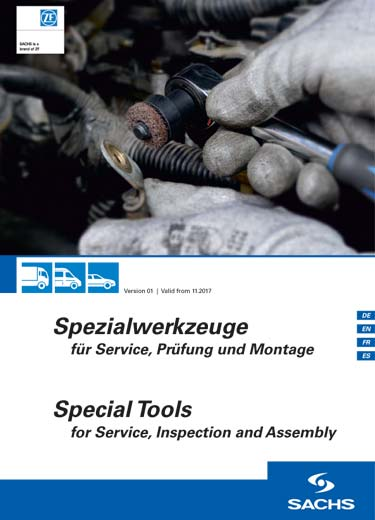 Special service, testing and clutch installation tools from SACHS.
