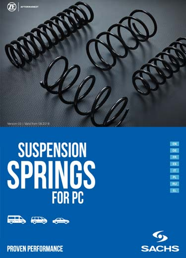 The complete product range of ZF SACHS suspension springs.