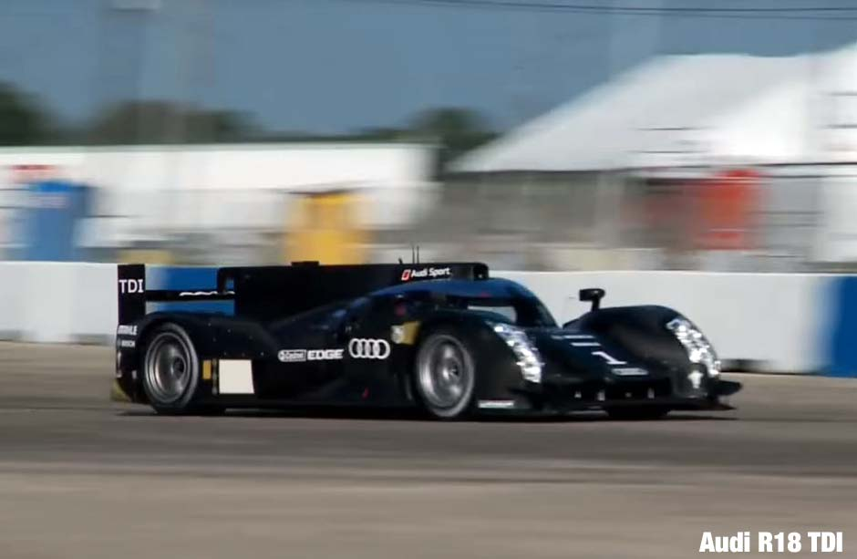 Audi R18 TDI Le Mans with SACHS clutch and steering