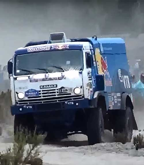 Kamaz racing truck with SACHS technology at the Dakar Rally.