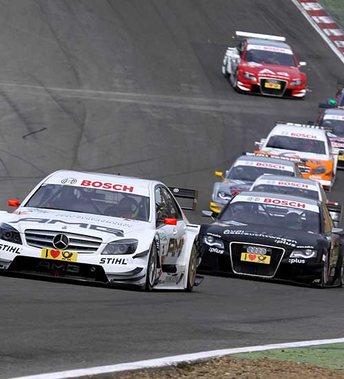 BMW, Mercedes and Audi with SACHS carbon clutch in a duel on the race track.