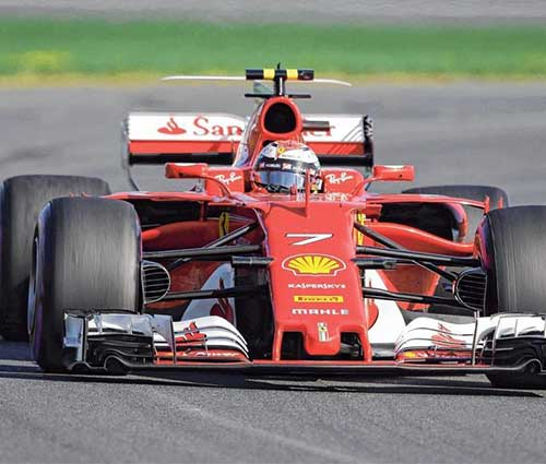 ZF Motorsport in Formula 1, Ferrari on the racetrack