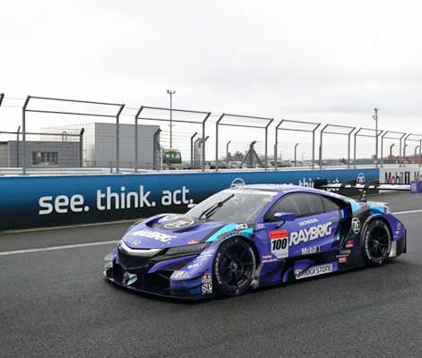 Honda NSX-GT with ZF Motorsport clutch in the Japanese Super GT500 series.