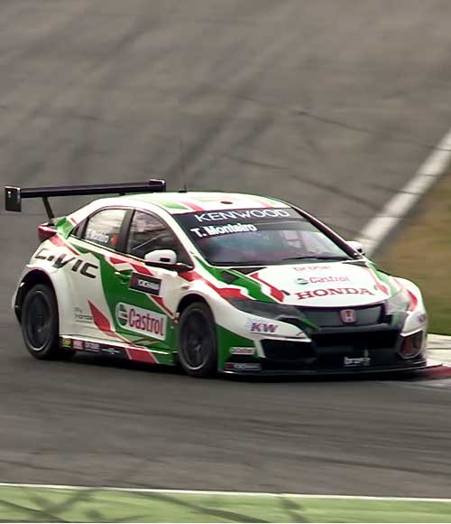 Honda Civic Type-R con embrague ZF-Motorsport en el FIA WTCC.