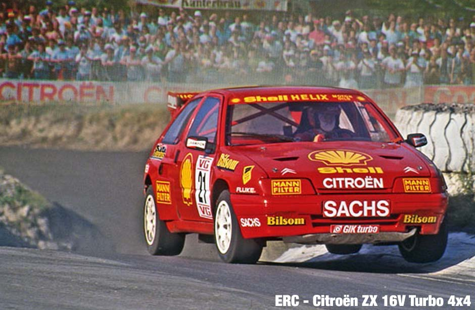 Citroën ZX 16V Turbo 4x4 at the European Rallycross Championship 1992.