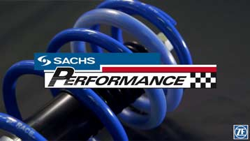 SACHS Performance Shock Absorber with SACHS Logo.