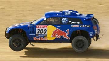 ZF Motorsport Rally shock absorbers in the WRC and Dakar Rally with VW Touareg.