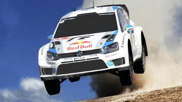ZF Motorsport Rally shock absorber in the VW Polo WRC.